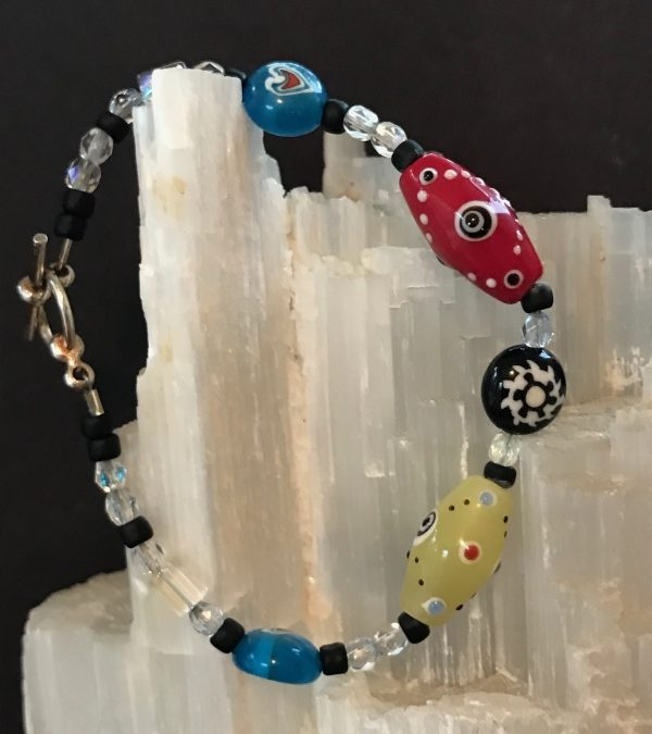 Funky Fun-Vintage Glass Bracelet